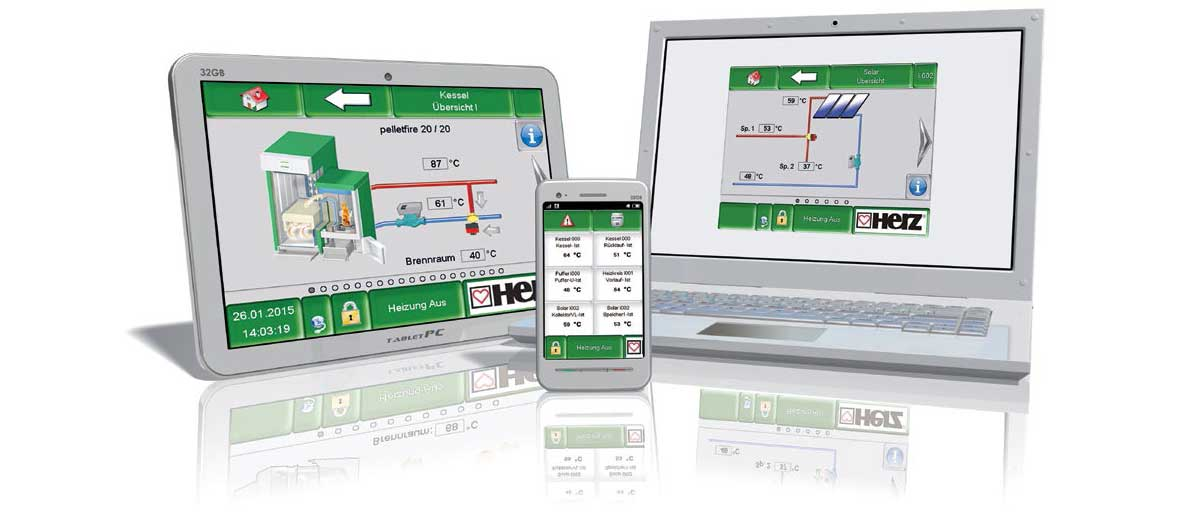 Система T-Control за дистанционно управление на котлите HERZ
