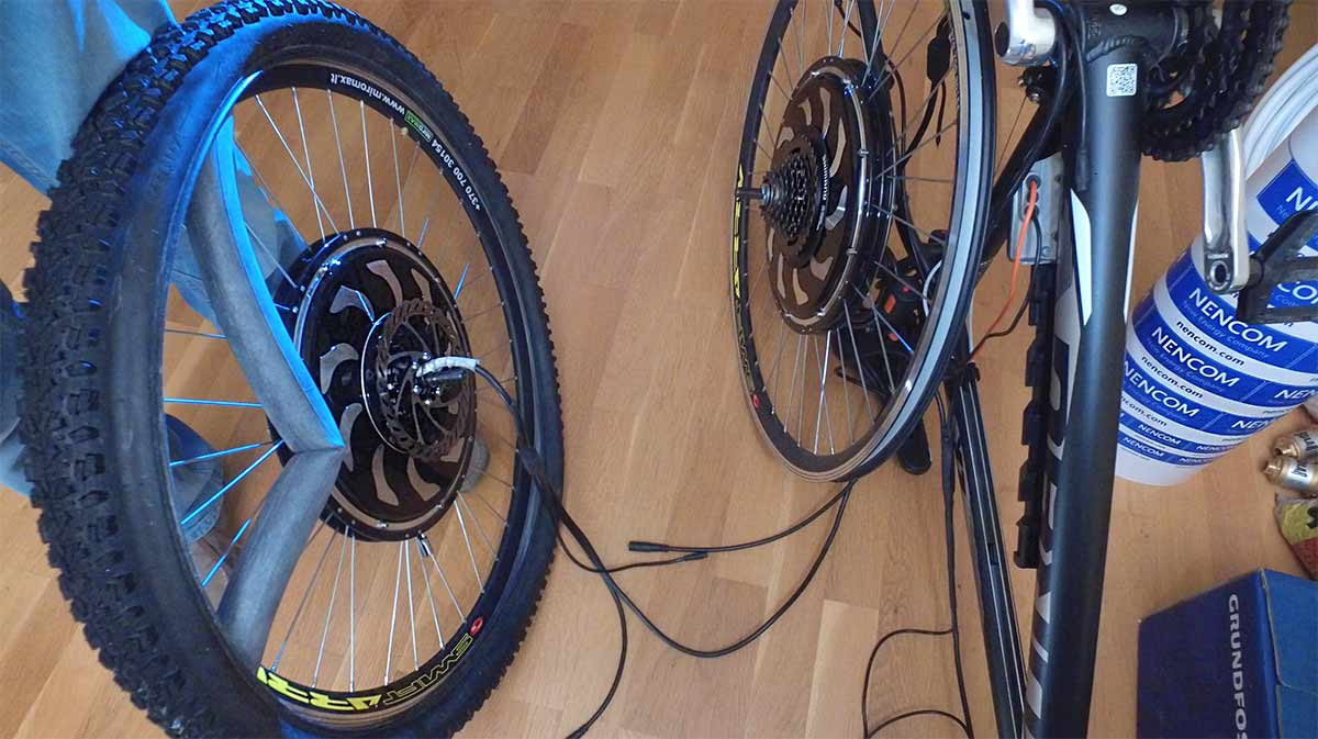 Монтиране на мотор-колела на велосипед
