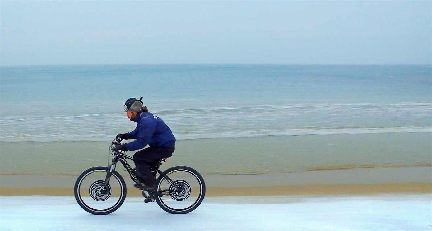 Електровелосипед на лед