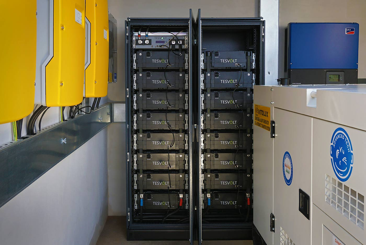 Storage energy system TESVOLT in double rack