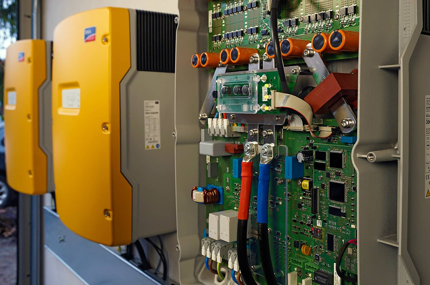 SMA Sunny Island battery inverters as apart of the energy storage system