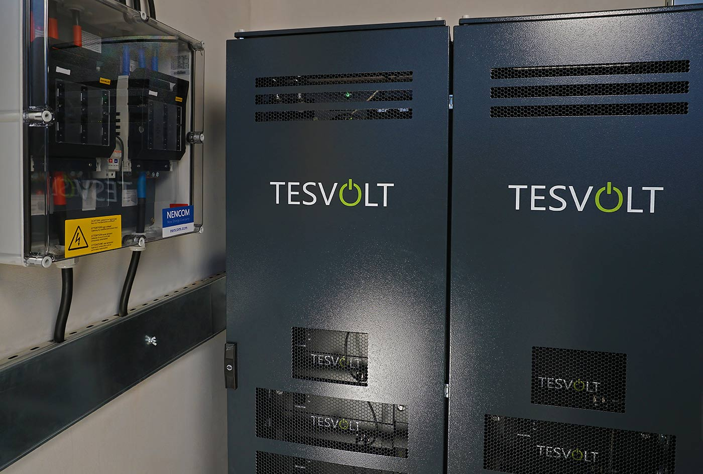 Two TS40 cabinet for storage system TESVOLT