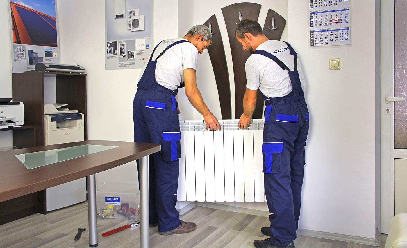 Installation of heating radiators