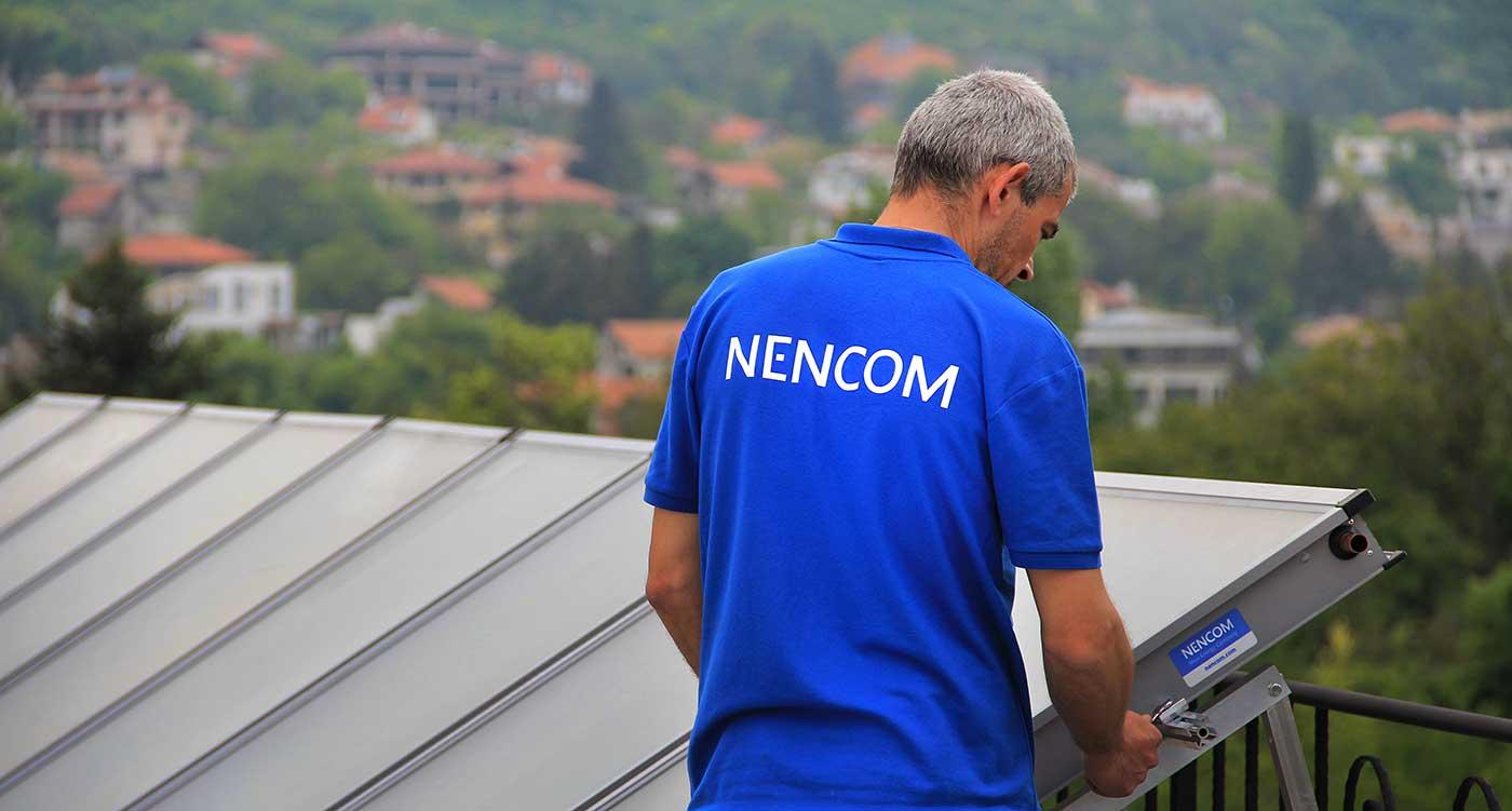 Монтаж солнечных коллекторов компанией NENCOM