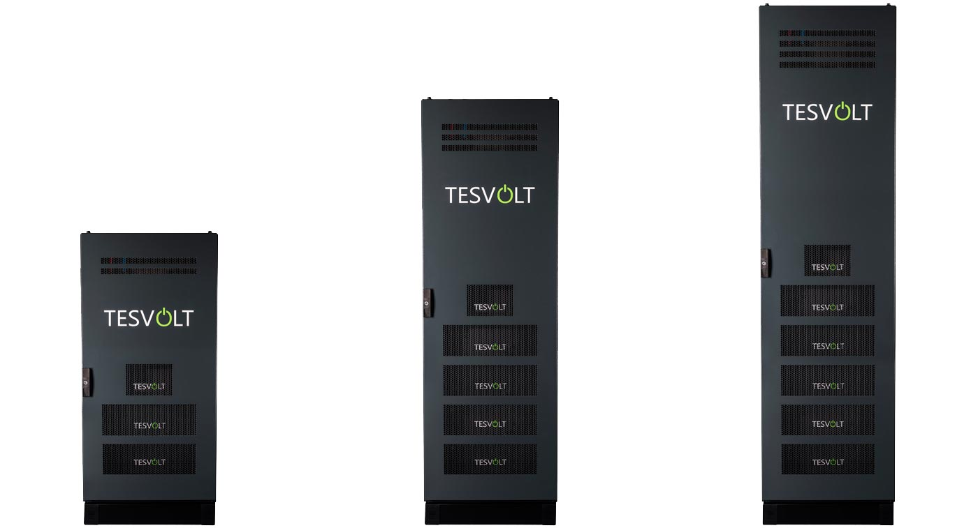 Dimensions of racks for storage systems TESVOLT TS 48 V