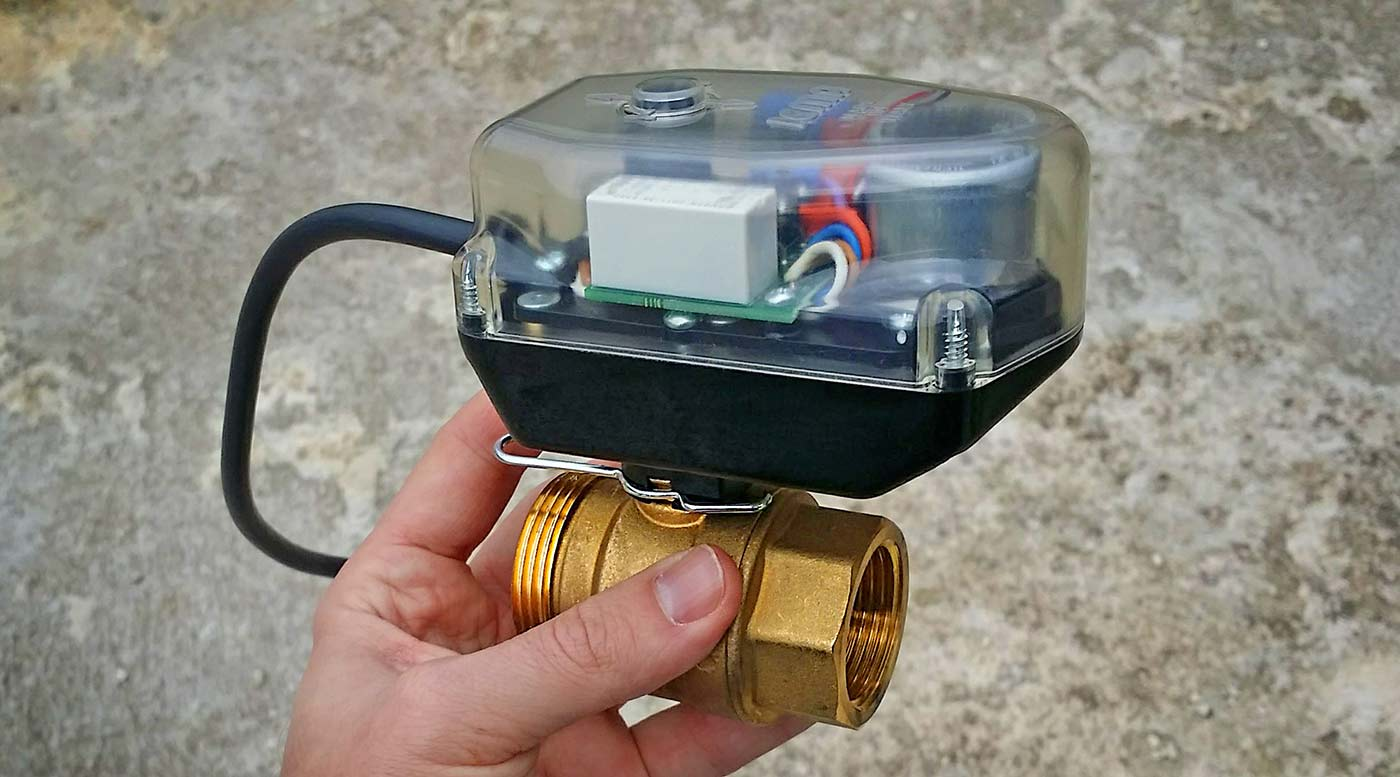 Сферичен кран с електрическо задвижване