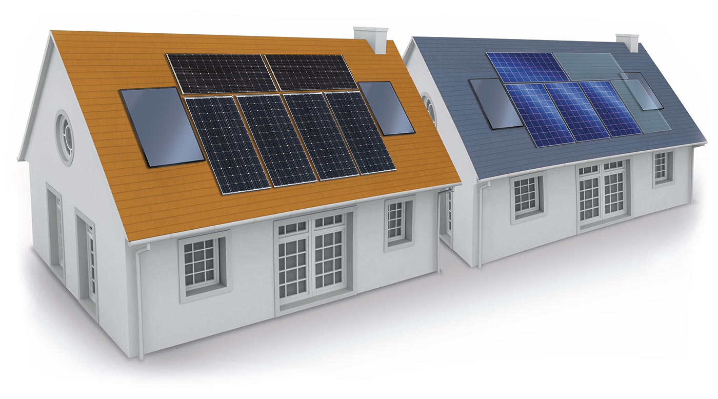 Солнечные модули Panasonic HIT позволяют оптимально использовать пространство на крыше дома